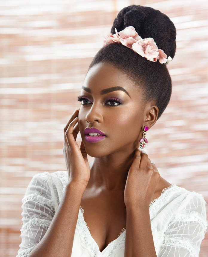 High-Bun-Natural-Hairstyle Most Beautiful Natural Hairstyles for Wedding