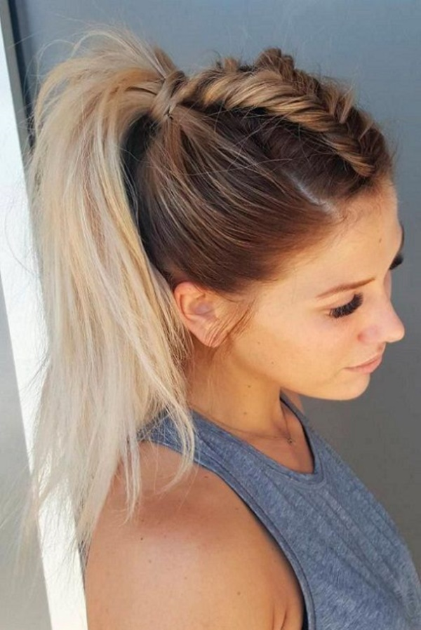 Interweave-Ponytail-Hairstyle Spring Hairstyles to Outshine Your Beauty