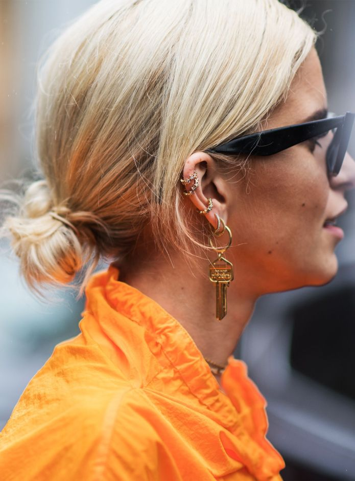 Knotted-Bun-Hairstyle Spring Hairstyles to Outshine Your Beauty