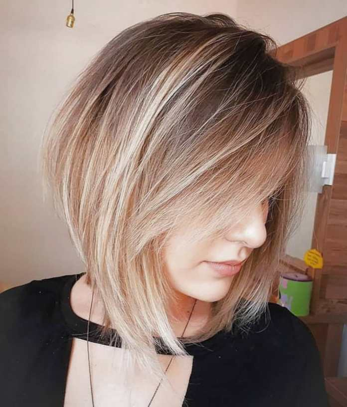 Layered-Bob-with-a-Side-Bangs Bob Haircuts 2019 for an Outstanding Appearance