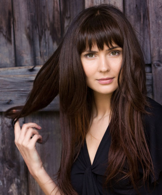 Long-Layers-With-Simple-Straight-Cut-Bangs Layered Hairstyles With Bangs