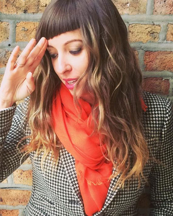 Low-Waves-With-Asymmetrical-Bangs Layered Hairstyles With Bangs