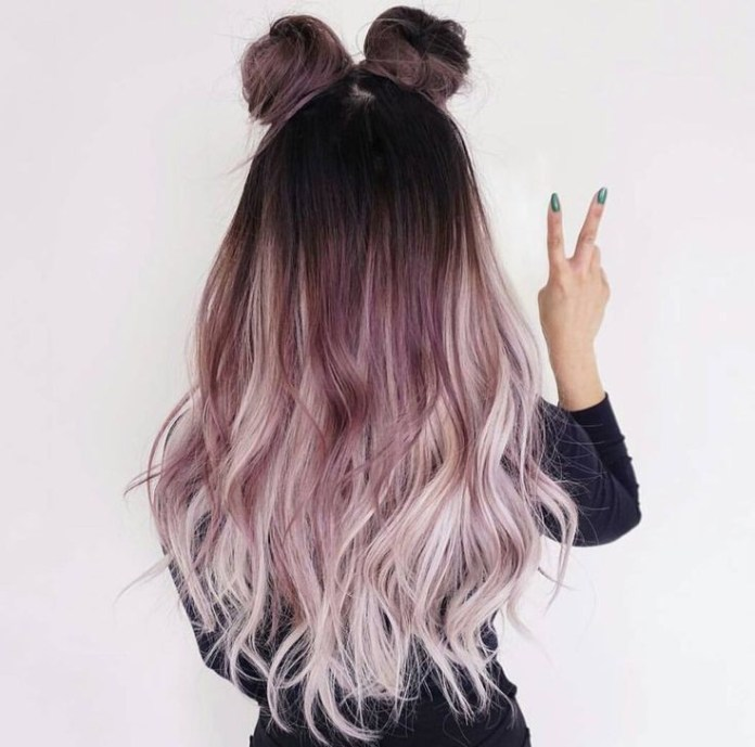 Pale-Purple-Blonde-Hair Best and Beautiful Hairstyles with Color