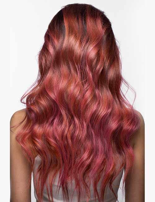 Pink-With-An-Orange-Tint Fabulous Hair Colors To Beat The Heat This Summer