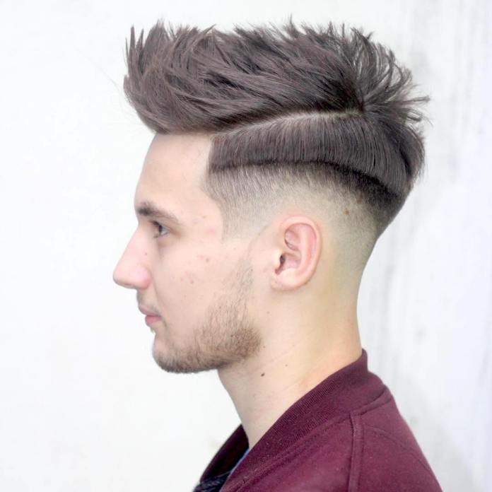 Pompadour-Fade-Hairstyle Ultra Dashing Medium Hairstyles for Boys
