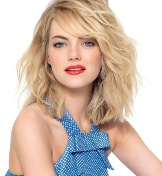 Roughened-Up-Shoulder-Length-Layers Layered Hairstyles With Bangs