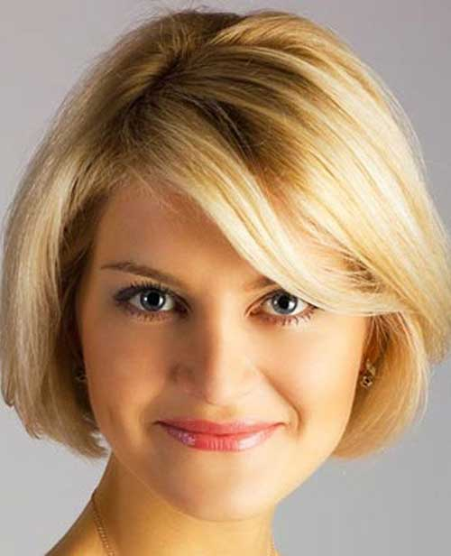 Short-Bob-Hair-Idea-with-Fine-Bangs-for-Over-40 Short Hair For Over 40