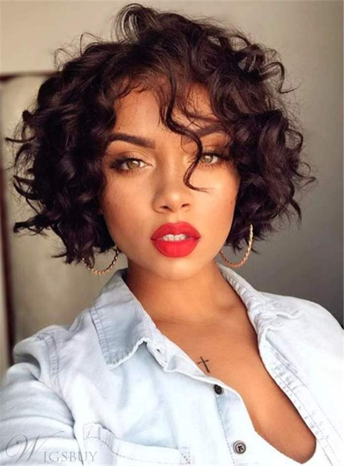 Short-Bob-with-Curls Exclusive African American Bob Hairstyles
