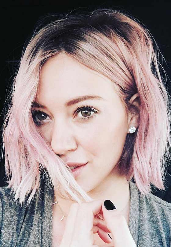 Short-Hair-With-Pastel-Colors Short Choppy Hairstyles To Try Out Today