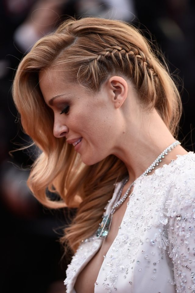 Side-Braided-Curls Elegant Hairstyles for Women