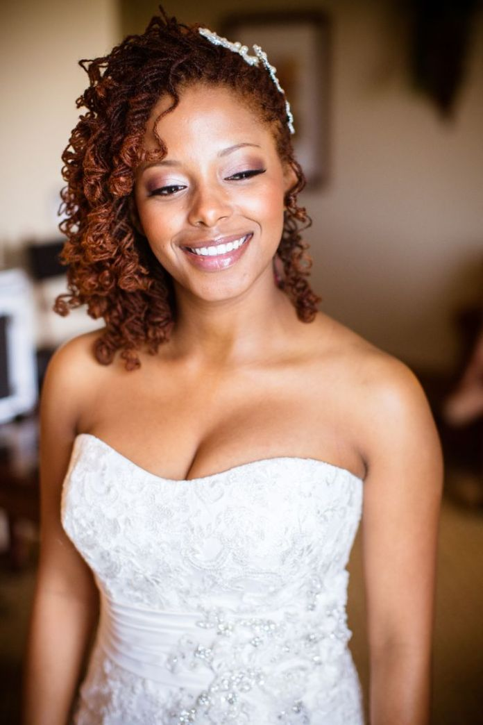 Side-Swept-Sisterlock-Hairstyle Most Beautiful Natural Hairstyles for Wedding