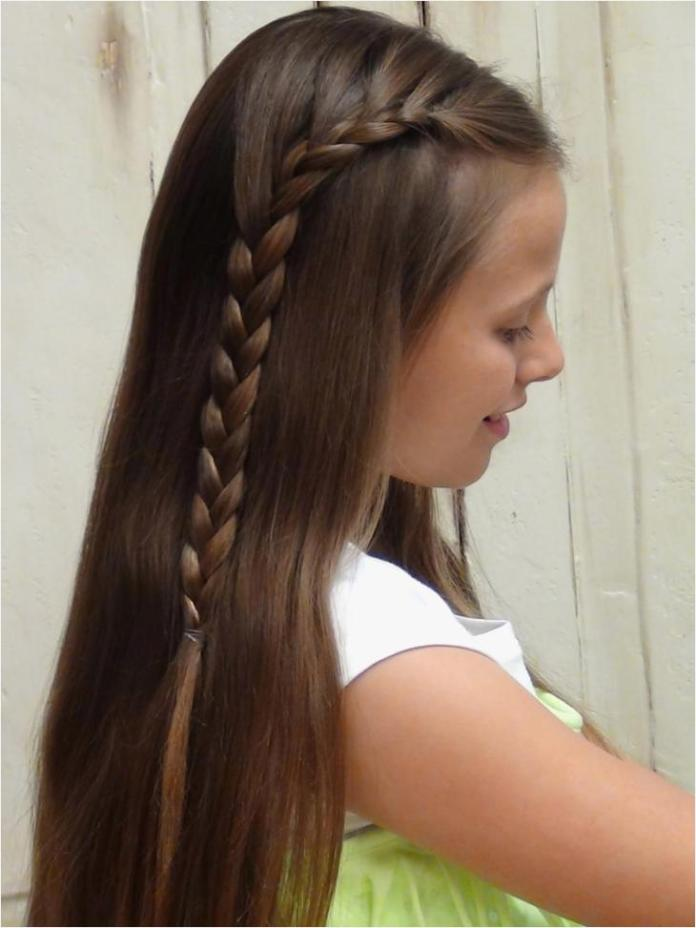 Sideways-Fishtail-Hairstyle Cute and Adorable Little Girl Haircuts
