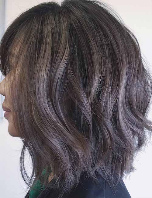 Smokey-Layered-Long-Bob Lovely Styling Ideas For Layered Bob Hair
