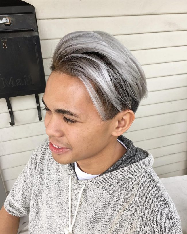 Smoky-Grey-Ombre-Hairstyle Grey Hairstyles for Men to Look Smart and Dashing