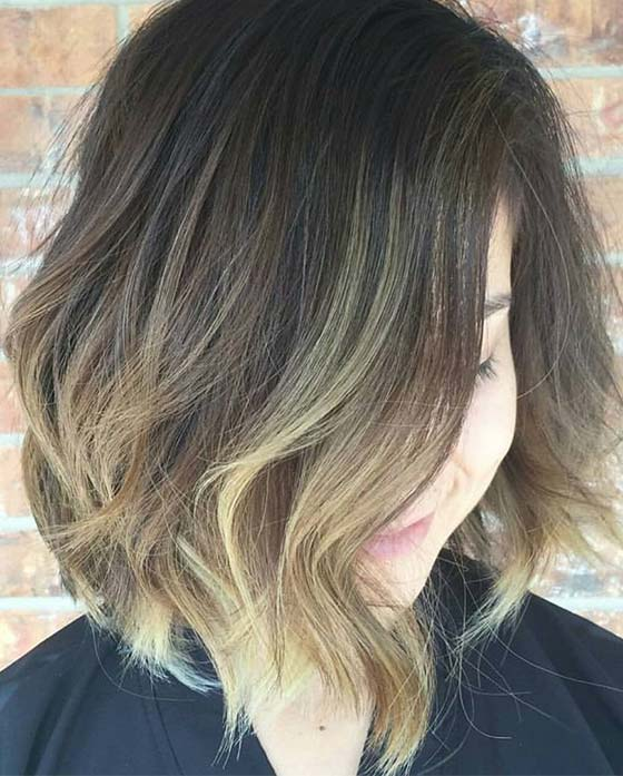 Soft-Waves-With-Balayage Short Choppy Hairstyles To Try Out Today