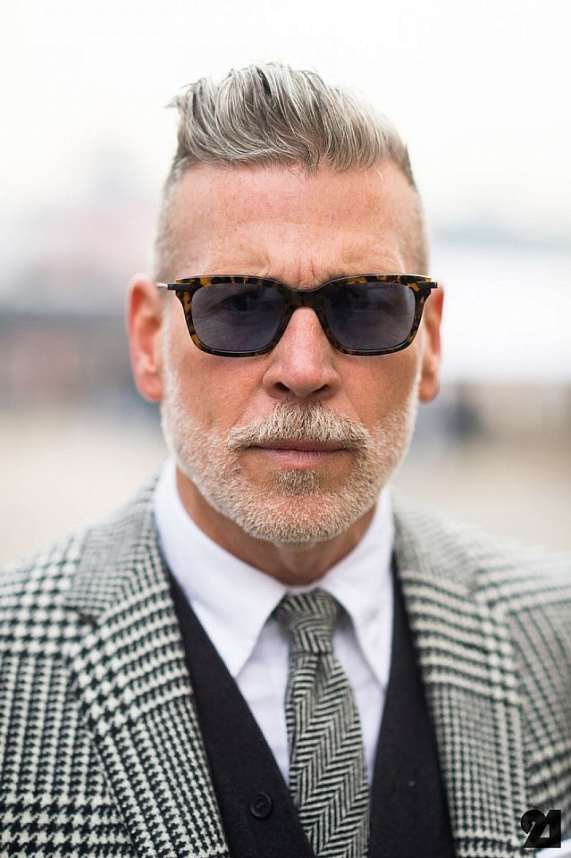 Spiked-Hairstyle Grey Hairstyles for Men to Look Smart and Dashing