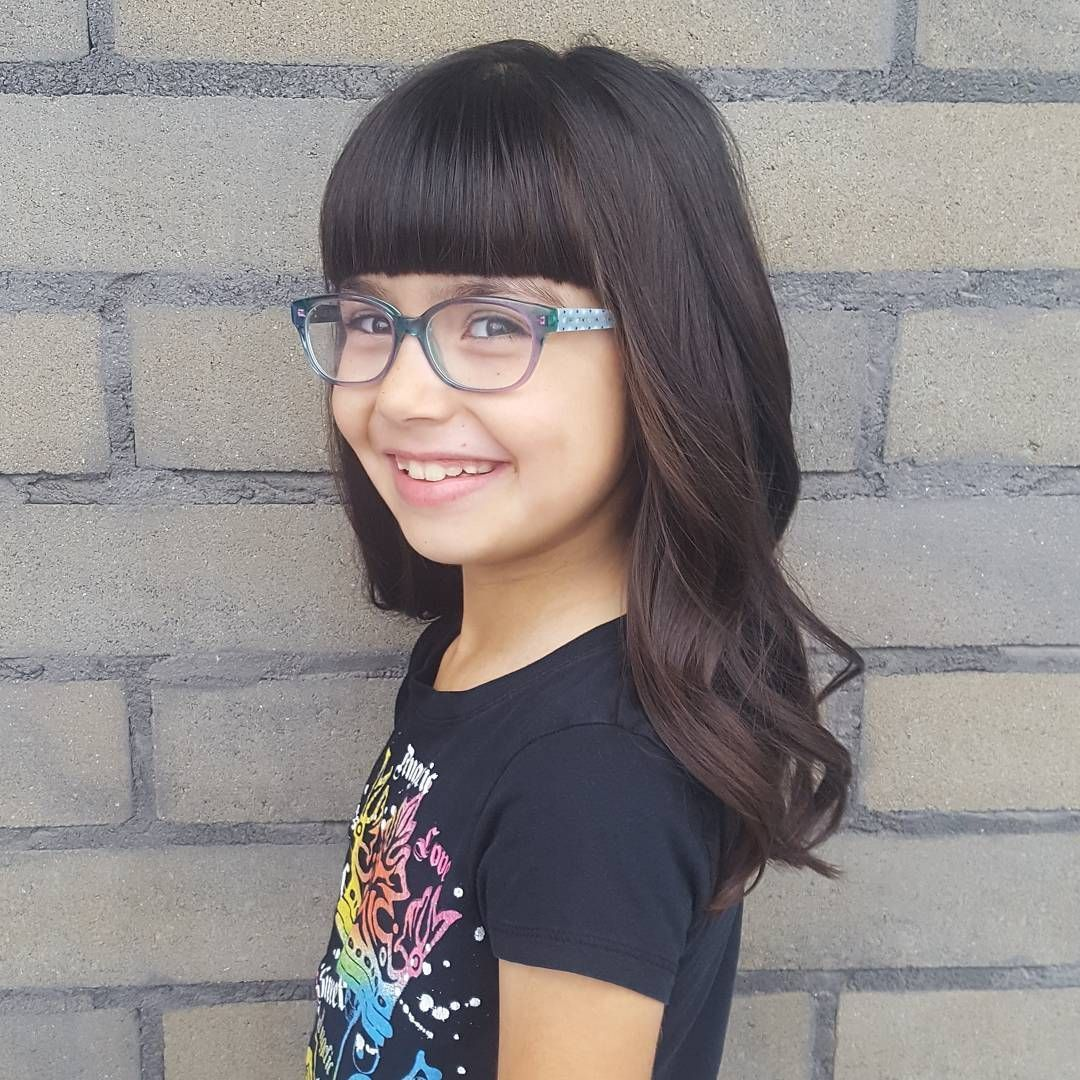 Straight-Faux-Haircut Cute and Adorable Little Girl Haircuts