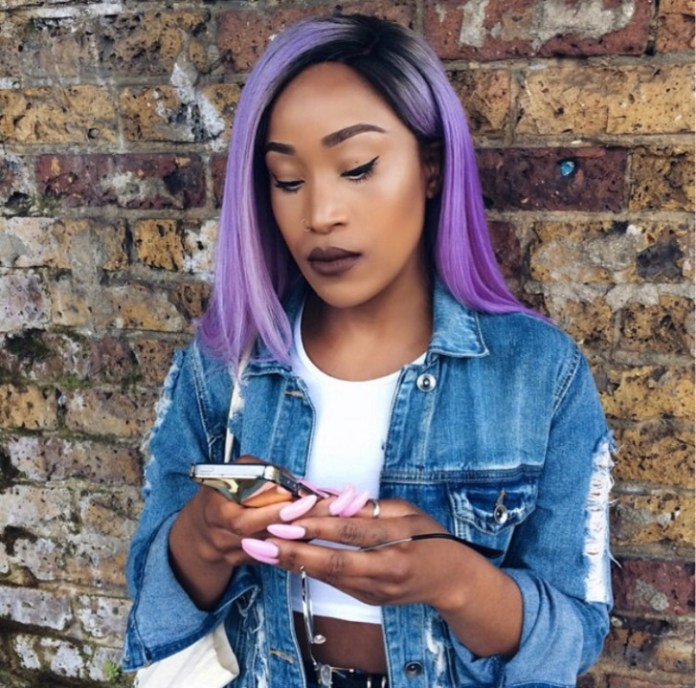 Straight-Purple-Hairstyle Best African American Hairstyles with Color