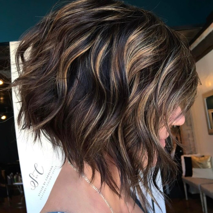 Super-Messy-Upside-Down-Bob Bob Haircuts 2019 for an Outstanding Appearance