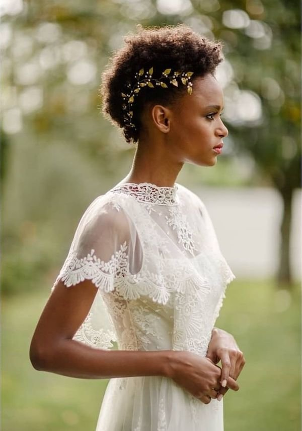 Tapered-Cut-Short-Hairstyle Most Beautiful Natural Hairstyles for Wedding