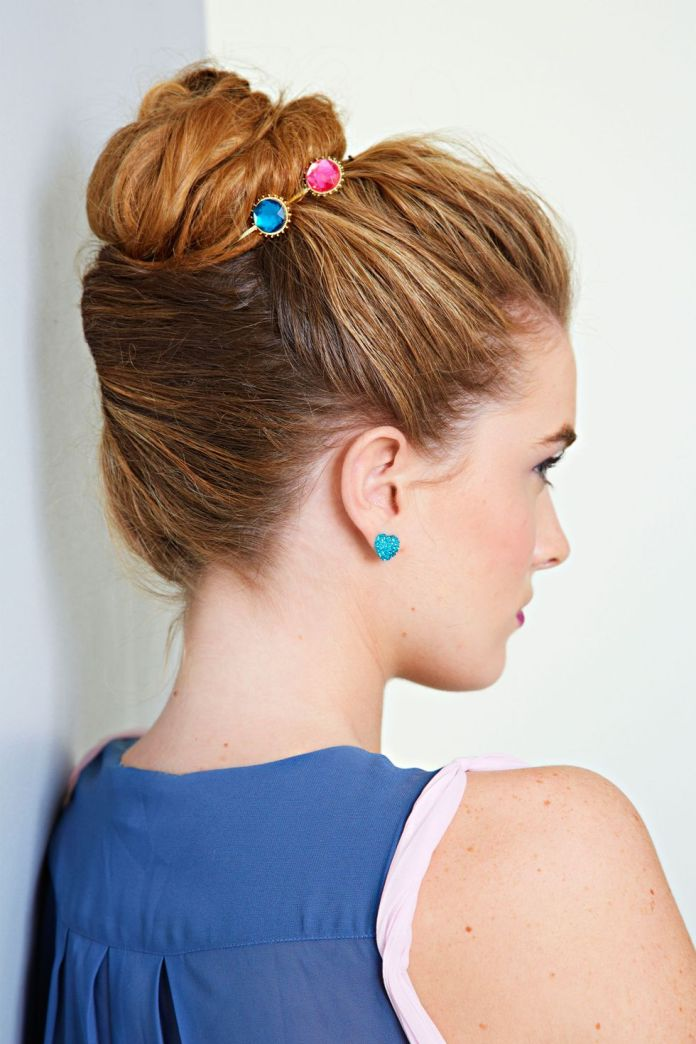 Twisted-Bun-Hairstyle Spring Hairstyles to Outshine Your Beauty