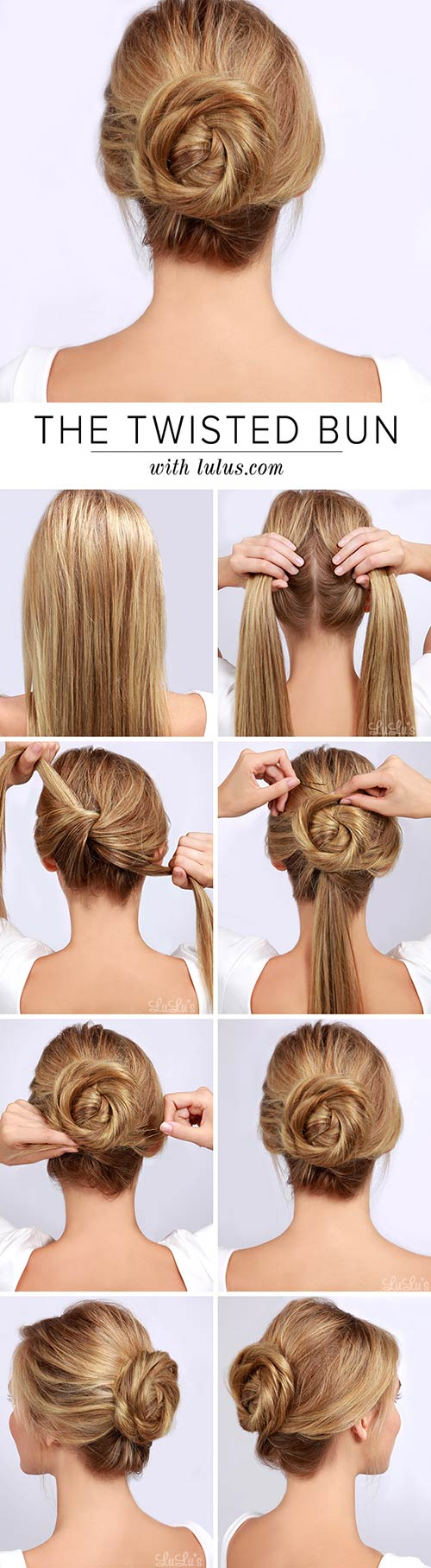 Twisted-Bun Awesome Hairstyles For Girls With Long Hair