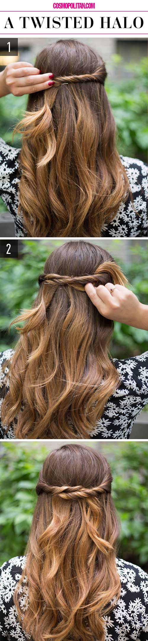 Twisted-Halo Awesome Hairstyles For Girls With Long Hair