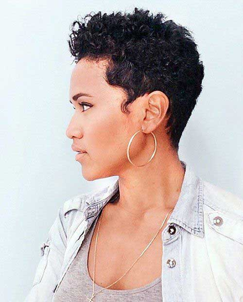 Very-Short-Natural-Curly-Hair Latest Short Haircuts for African American Women