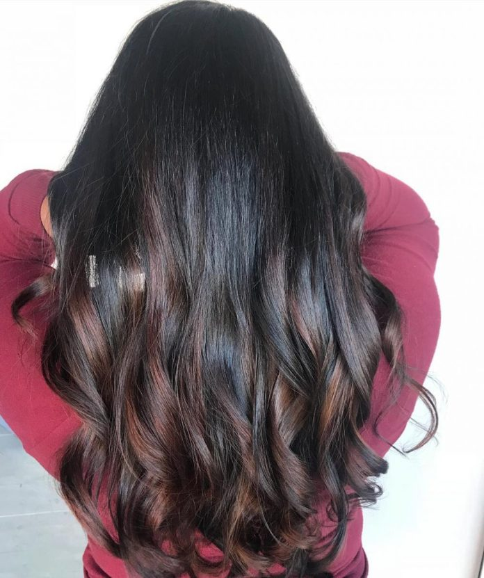 Warm-Brunette-Balayage Best and Beautiful Hairstyles with Color