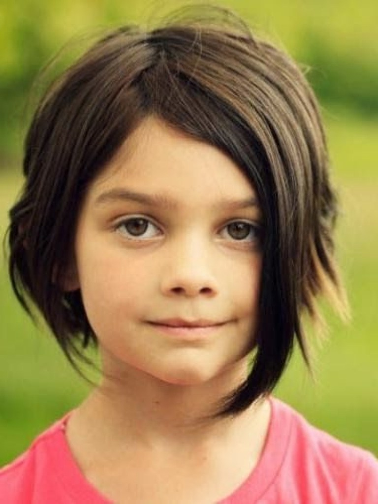 Wispy-Ends-Bangs-Hairstyle Cute and Adorable Little Girl Haircuts