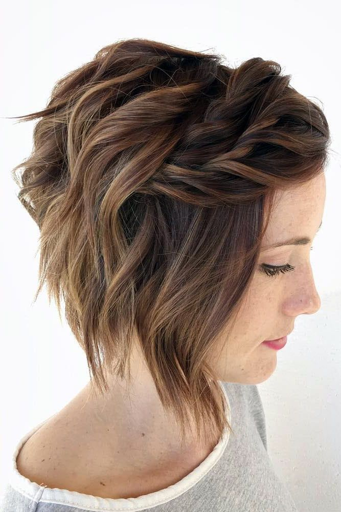 An-Asymmetric-Bob-Cut-with-Hair-Strands-Rolled-Up-Together Christmas Party Hairstyles to Enhance Your Look