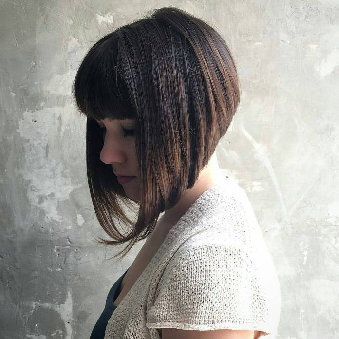 Angled-Bob Most Coolest Variation of Bob Haircuts to Try Now
