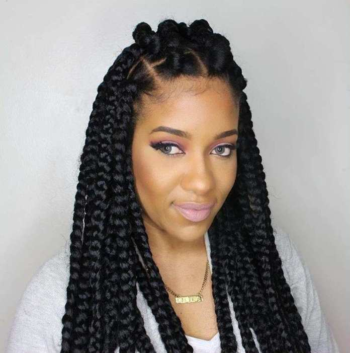 Big-Cornrows-Braid-Hairstyle Stylish and Modern Braids Hairstyles