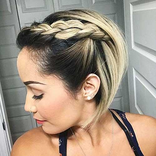Blonde-Bob-with-Dark-Roots Alternatives Cute Braids for Short Hair