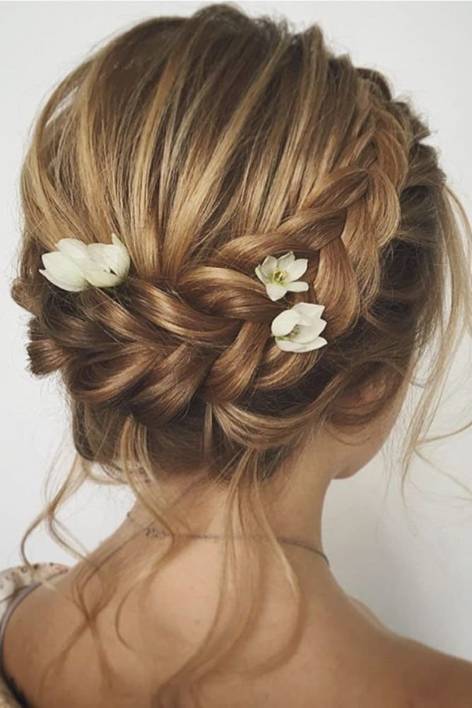 Braided-Crown-Hairstyle Most Gorgeous Looking Chignon Hairstyles
