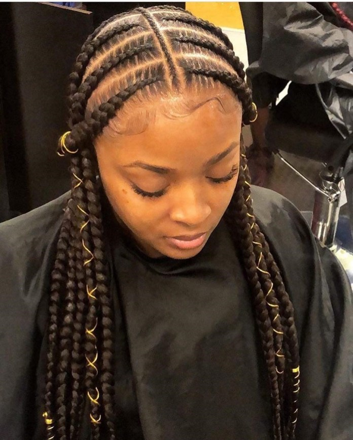 Cornrows-into-Ropes Stylish and Stunning African American Braids