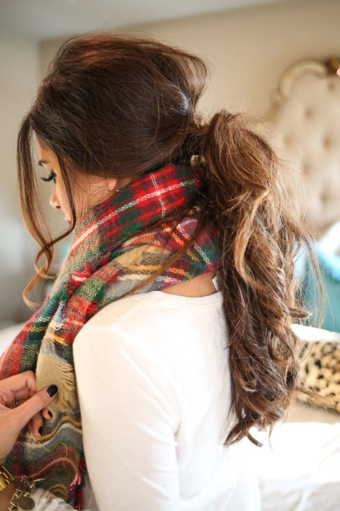 Cute-ponytail-hairstyle-for-this-fall Most Attractive Fall Hairstyles to Try This Year