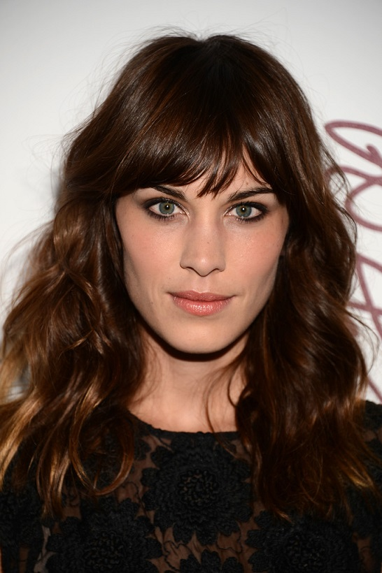 Dense-hair-with-bangs Most Attractive Fall Hairstyles to Try This Year