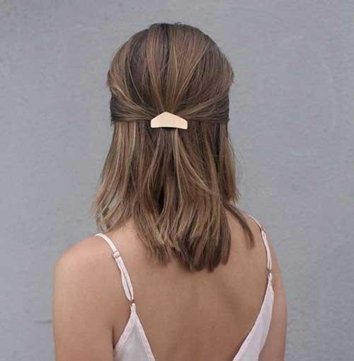Easy-Short-To-Mid-Updo Really Stylish Easy Updos for Short Hair