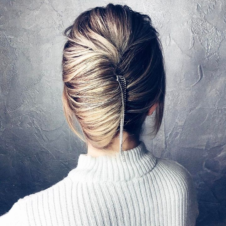 French-Twist-Chignon-Hairstyle Most Gorgeous Looking Chignon Hairstyles