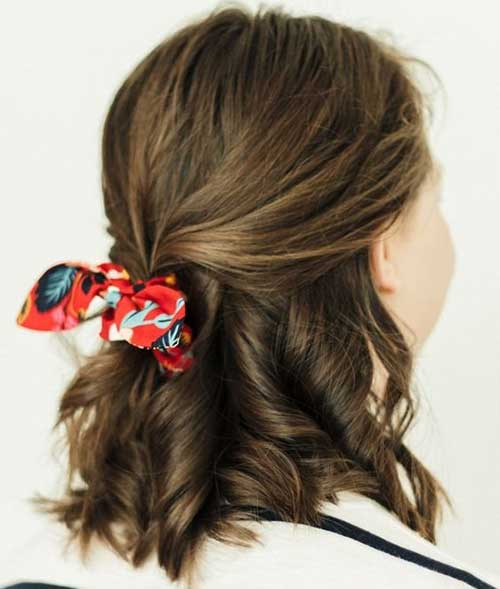 Half-Up Really Stylish Easy Updos for Short Hair