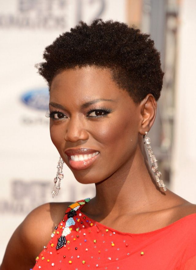 Hazelnut-Brown-Hued-Short-Permed-Hair Charming and Cute Hairstyles for Black Women