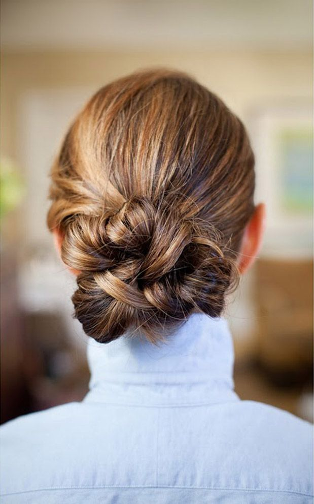 Knotted-Chignon-Hairstyle Most Gorgeous Looking Chignon Hairstyles