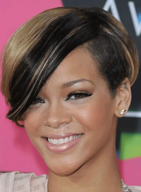 Ombre-Black-Bob Best Rihanna Hairstyles