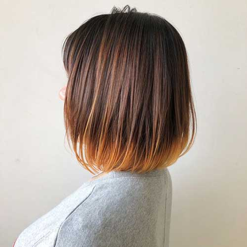 Ombre-Colored Super Cute Short Hairstyles for Fine Hair
