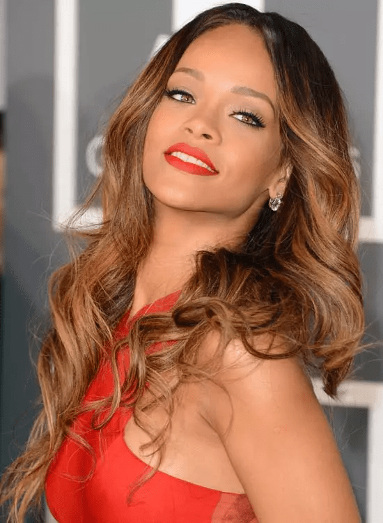 Ombre-Hairdo Best Rihanna Hairstyles