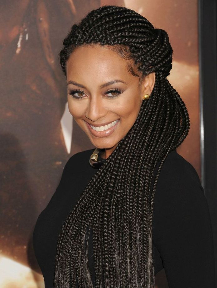 Patterned-Braided-Hairstyle Poetic Justice Braids to Flaunt Your Fabulous Look