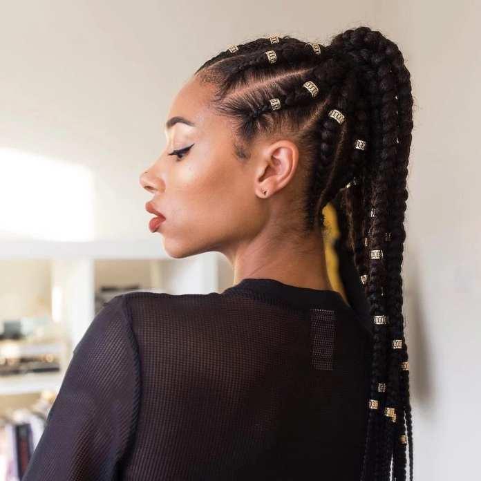 Ponytail-Braiding Stylish and Stunning African American Braids