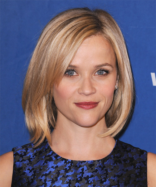 Reese-Witherspoon-Medium-Straight-Bob-Hairstyle Hottest And Trendy Bob Haircuts For Stylish Look