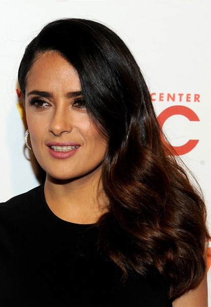 Salma-Hayek-Long-Wavy-Hairstyle Most Beautiful Celebrity Long Haircuts To Adore